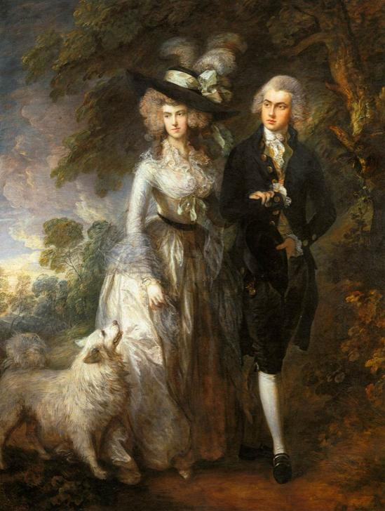 Mr and Mrs William Hallett ('The Morning Walk') by Thomas Gainsborough, 1785