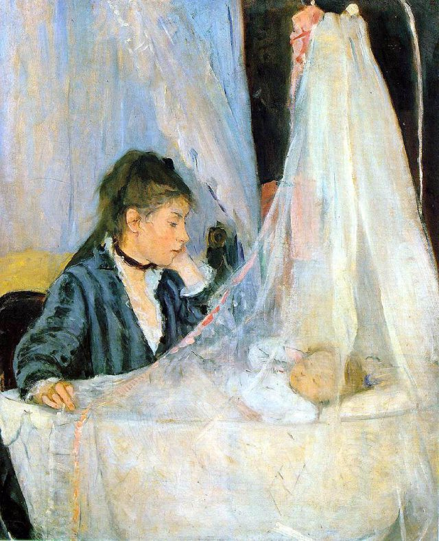 Art of the Week: Le Bercau by Berthe Morisot, 1872